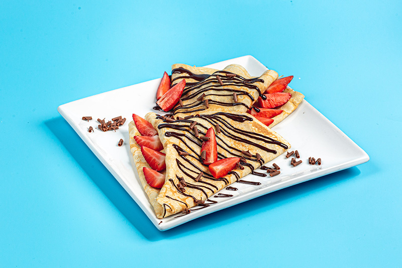 Crepe Chocolate and Strawberry Indulgence Landscape
